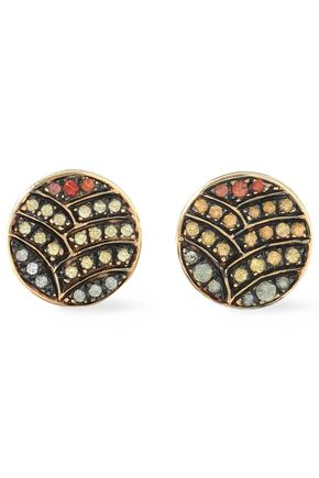 ILEANA MAKRI Gold-tone crystal earrings