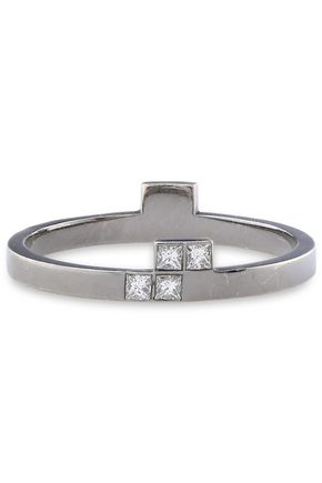 ILEANA MAKRI 18-karat white gold diamond ring