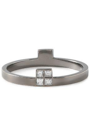 ILEANA MAKRI Burnished silver-tone crystal ring