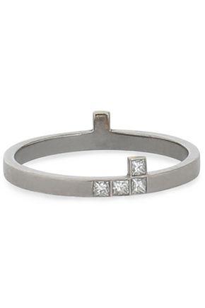 ILEANA MAKRI 18-karat gold silver-tone diamond ring
