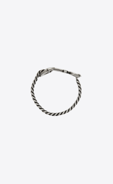SAINT LAURENT Bracelets E FOLK Anchor bracelet in silver-toned metal b_V4