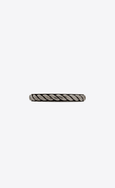 SAINT LAURENT Bracelets Man FOLK cuff in silver-toned metal a_V4