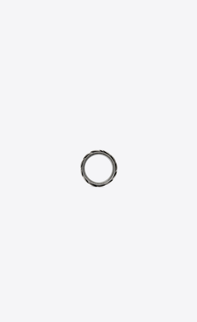 SAINT LAURENT Ringe Herren Folk Ring aus silberfarbenem Metall a_V4