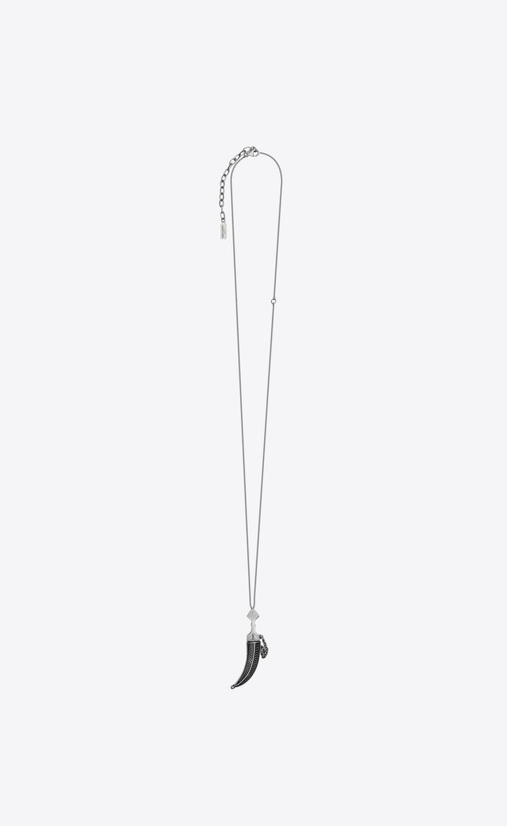 FOLK saber pendant in silver-toned metal