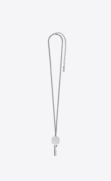 SAINT LAURENT Long necklace Man CHARMS ADDICTED TO LOVE key pendant b_V4