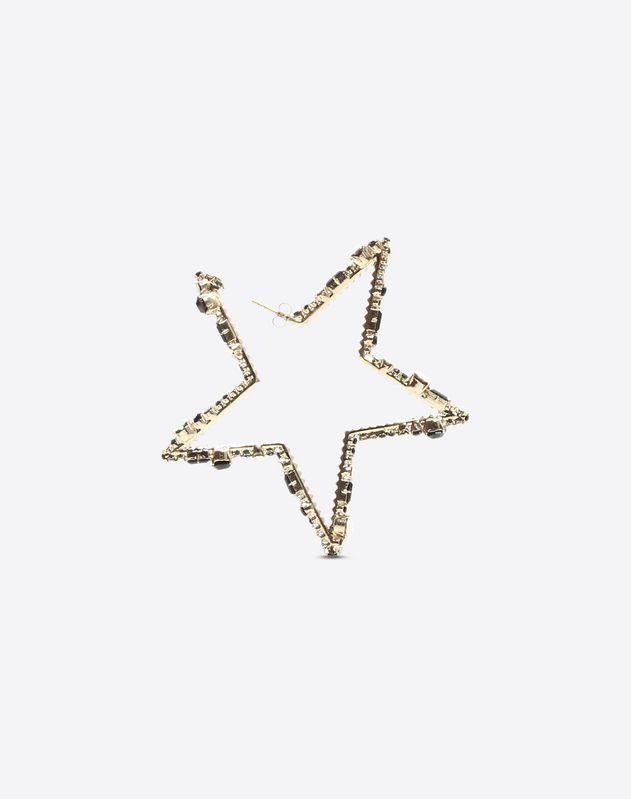 Серьги с кристаллами в форме звезды