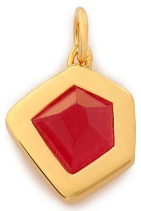 MONICA VINADER Petra 18-karat gold vermeil quartz pendant