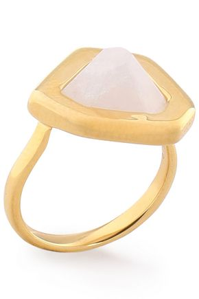 MONICA VINADER 18-karat gold-plated stone ring