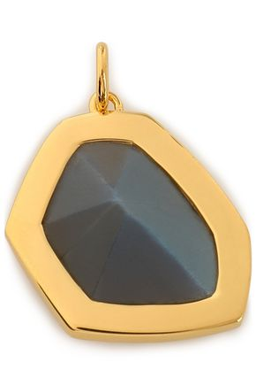 MONICA VINADER Petra 18-karat gold vermeil labradorite pendant