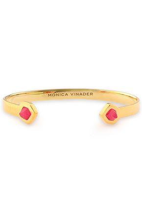 MONICA VINADER Petra 18-karat gold vermeil quartz cuff