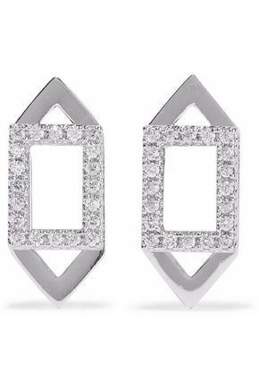 ASTRID & MIYU Fitzgerald rhodium-plated crystal earrings
