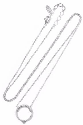 ASTRID & MIYU Fitzgerald rhodium-plated crystal necklace