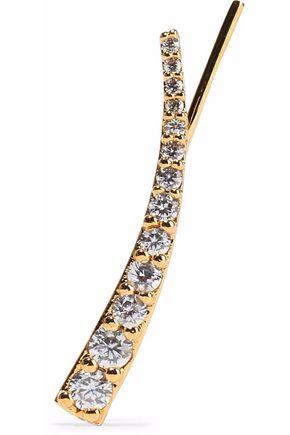 ASTRID & MIYU Snake Charmer gold-plated crystal ear cuff