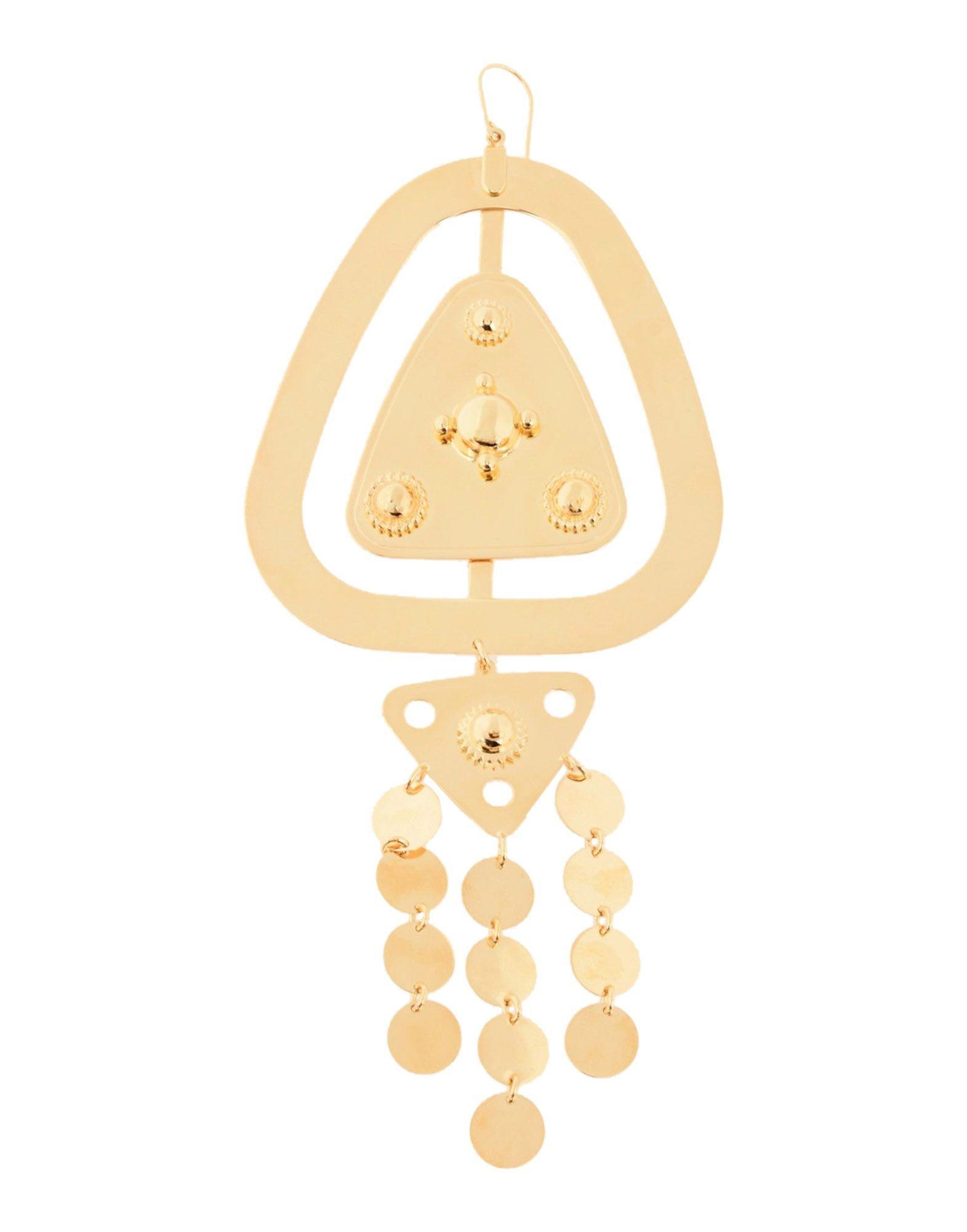 《セール開催中》MAISON MARGIELA レディース ピアス&イヤリング ゴールド 100% 真鍮/ブラス