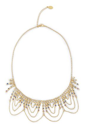 NOIR JEWELRY Gold-tone crystal necklace