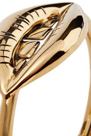AURÉLIE BIDERMANN Red District 18-karat gold-plated cuff