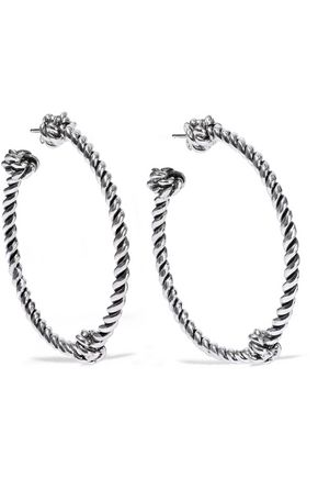AURÉLIE BIDERMANN Palazzo silver-tone hoop earrings
