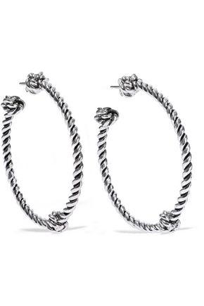 AURÉLIE BIDERMANN Palazzo silver-tone hoop earrings