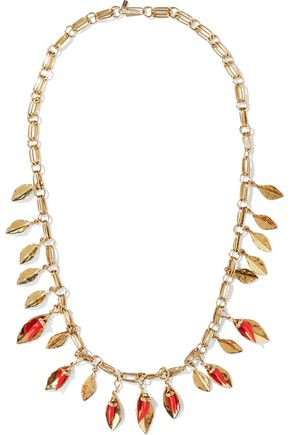 AURÉLIE BIDERMANN Monteroso gold-tone resin necklace
