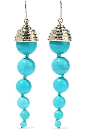AURÉLIE BIDERMANN Lakotas gold-tone stone earrings