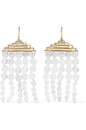 AURÉLIE BIDERMANN Gold-tone beaded earrings