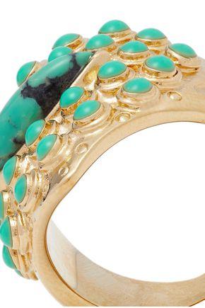 AURÉLIE BIDERMANN Navajo 14-karat gold-plated stone ring