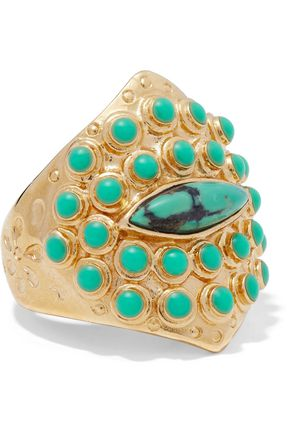 AURÉLIE BIDERMANN Navajo 14-karat gold-plated stone ring