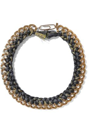 AURÉLIE BIDERMANN Brasil gold-tone braided cord necklace