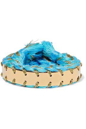 AURÉLIE BIDERMANN Copacabana gold-tone braided cotton cuff