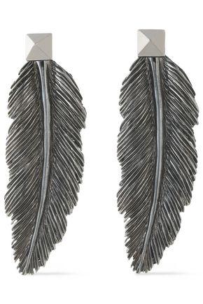 VALENTINO Gunmetal-tone earrings
