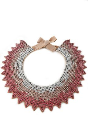 VALENTINO Crystal and satin necklace