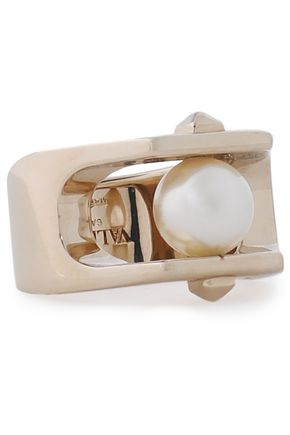 VALENTINO GARAVANI Gold-tone faux pearl ring