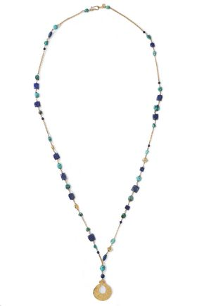 CHAN LUU Gold-tone multi-stone necklace