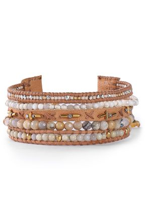 CHAN LUU Leather multi-stone bracelet