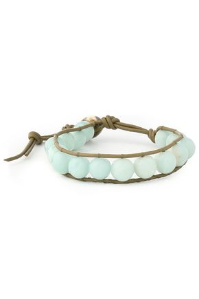 CHAN LUU Leather amazonite bracelet