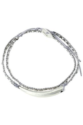 CHAN LUU Sterling silver, bead and cord bracelet