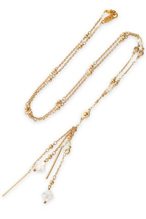 CHAN LUU Gold-tone and bead necklace