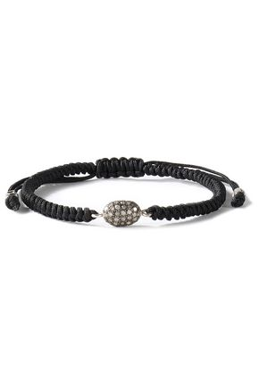 CHAN LUU Cord and crystal bracelet
