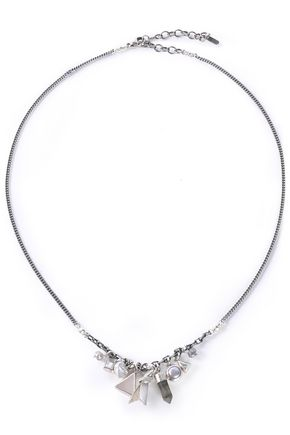 CHAN LUU Sterling silver multi-stone necklace