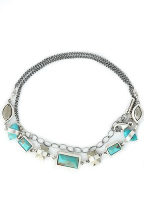 CHAN LUU Sterling silver turquoise choker