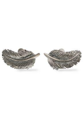 VALENTINO Gunmetal-tone clip earrings