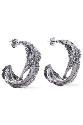 VALENTINO GARAVANI Gunmetal-tone hoop earrings