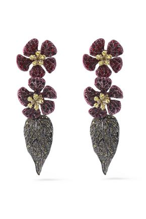 VALENTINO Hawaiian Couture gold-tone crystal earrings
