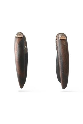 VALENTINO Burnished wood earrings