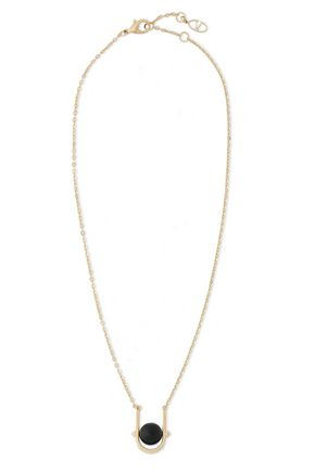 VALENTINO Gold-tone and bead necklace