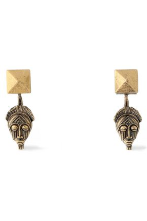 VALENTINO Burnished gold-tone earrings