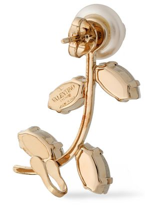 VALENTINO GARAVANI Gold-tone, faux mother-of-pearl and crystal ear cuff