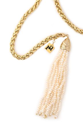 ROSANTICA Gold-tone and bead necklace