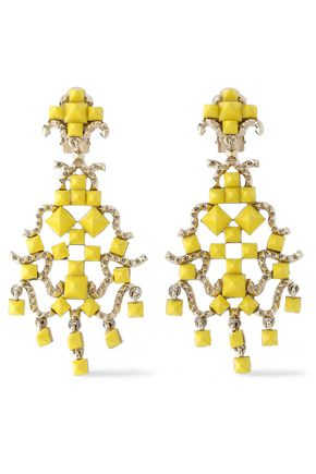 VALENTINO GARAVANI Gold-tone Rockstud earrings