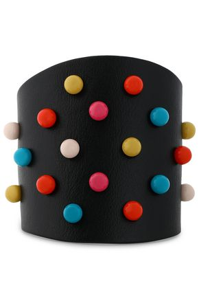 RED(V) Studded leather bracelet